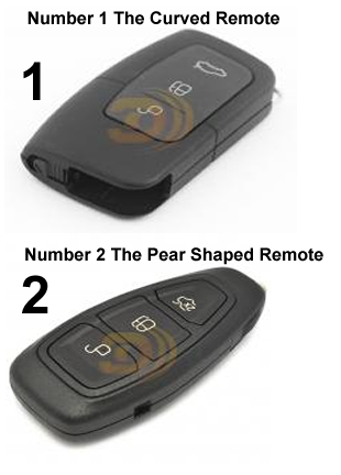 Choose 1 or 2 to tell us which ford remote is yours